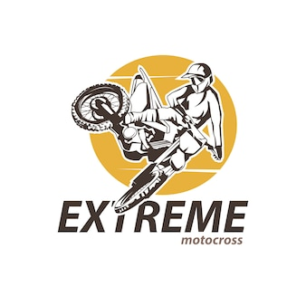 Motor cross extreme schriftzug
