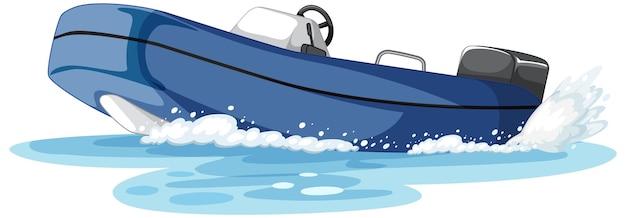 Motorboot oder schnellboot auf dem wasser