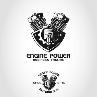 Motorleistung ist ein automotive-logo
