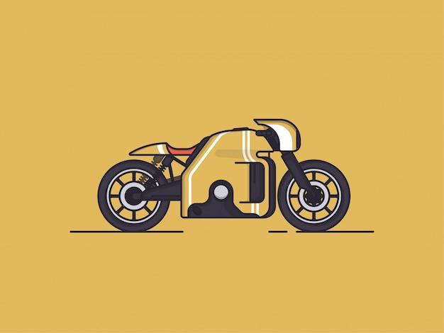 Motorrad auf gelb