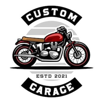 Motorrad benutzerdefiniertes garagenlogo