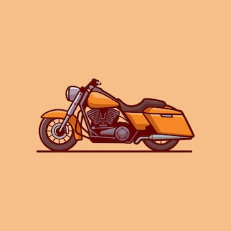 Motorrad-cartoon