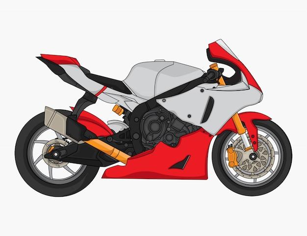 Motorrad, das designvektor läuft