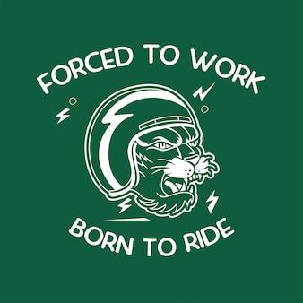 Motorrad, geboren zum fahren