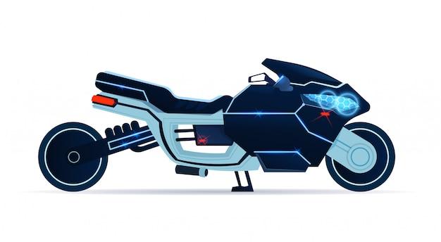 Motorrad-ikone realistisches blaues sport-motorrad an lokalisiert während hintergrund
