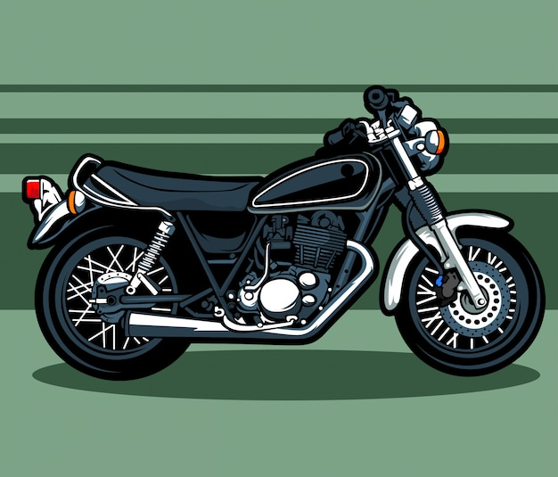 Motorrad, klassisch, yamaha, vespa, cartoon, vektor, pcx, ducati, moto, fahrrad, bigbike,