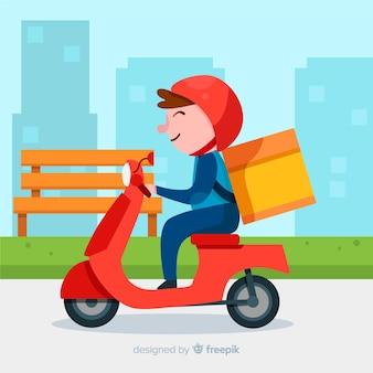 Motorrad lieferung,