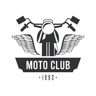 Motorrad mit flügellogo