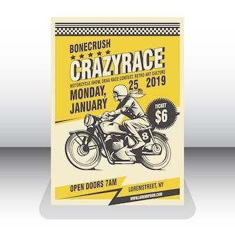 Motorrad plakat vorlage