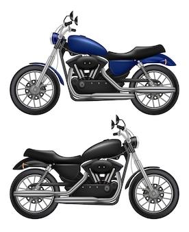 Motorrad realistisch. sportmotorrad-oldtimer des städtischen verkehrs