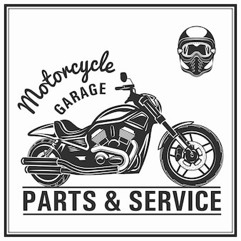 Motorrad-silhouette mit helmen set vektor