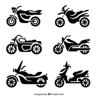 Motorrad-silhouetten