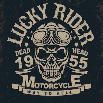 Motorrad t-shirt grafiken.