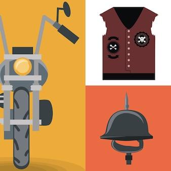 Motorrad- und bikerausrüstung