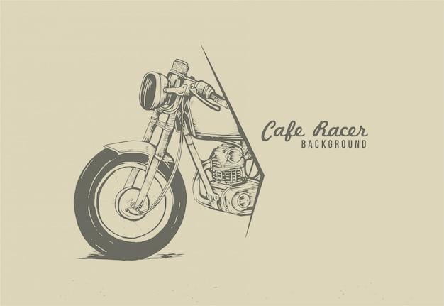Motorradcafé-rennläuferhintergrund für ereignisplakat