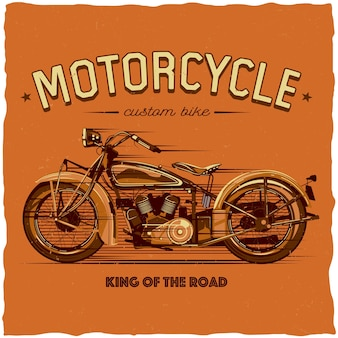 Motorradetikett design
