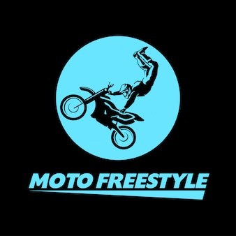 Motorradfahrer charakter illustration.
