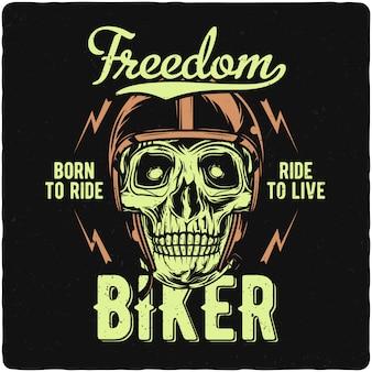 Motorradfahrer schädel