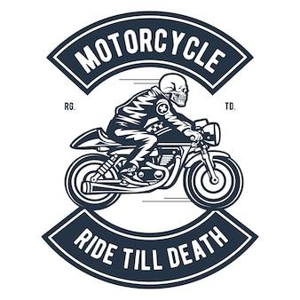 Motorradfahrt bis zum tod
