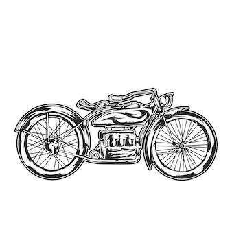 Motorradillustration