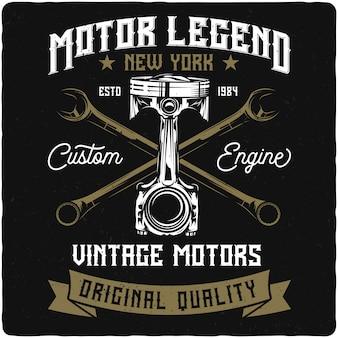 Motorradkolben und schraubenschlüssel