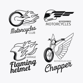 Motorradrennen-logo oder label-set