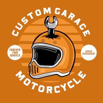 Motorradrennfahrerhelmillustration