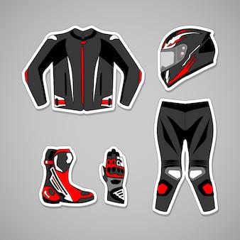 Motorradschutzausrüstung mit streetstyle