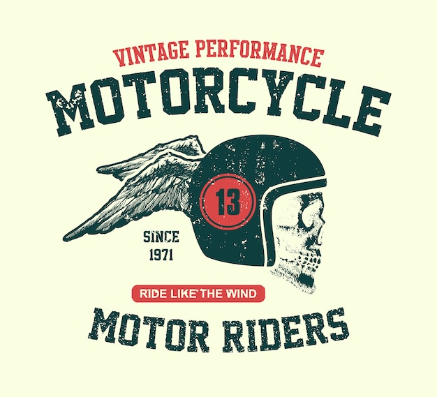 Motorschädel. vintage design biker.
