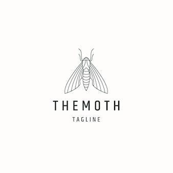 Motte linie kunst logo symbol design vorlage flache vektorillustration