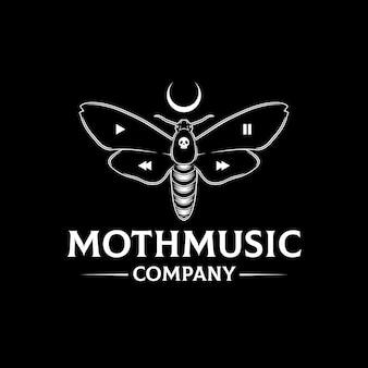 Mottenmusik media player logo vorlage