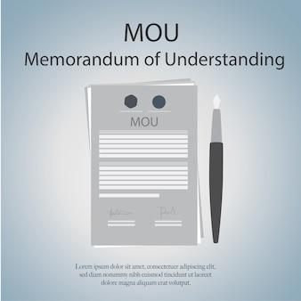 Mou memorandum of understanding.