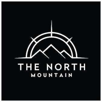 Mount compass mountain peak für travel adventure logo-design-inspiration
