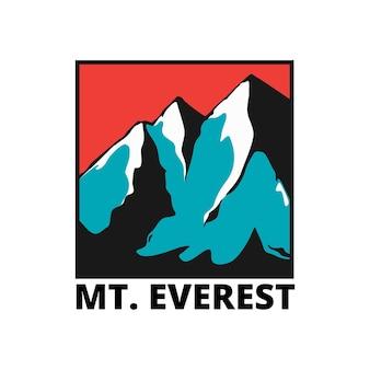 Mount everest peak-abzeichen-design