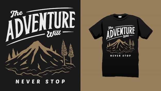Mountain adventure t-shirt design