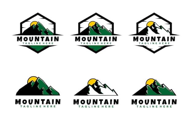 Mountain design logo vorlage