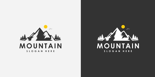 Mountain logo design emblem