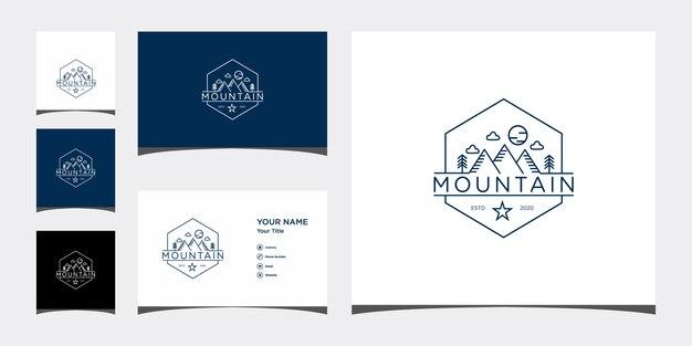 Mountain logo design vorlage