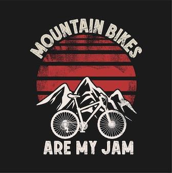 Mountainbike-illustration