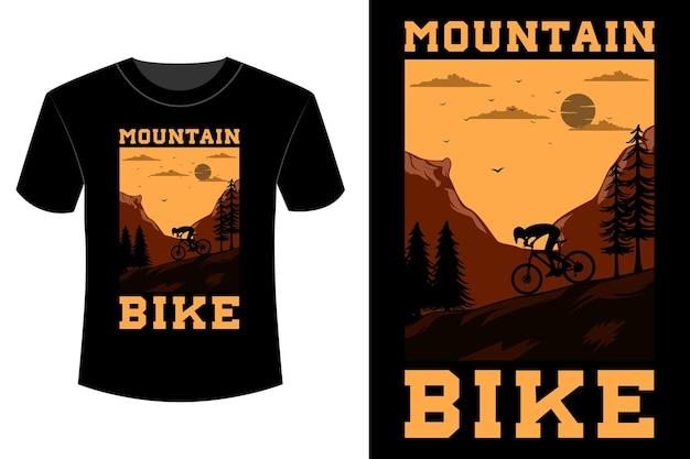Mountainbike t-shirt design vintage retro