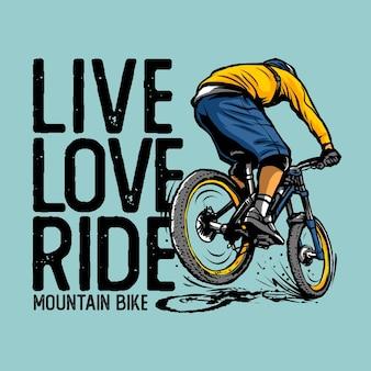 Mountainbike Premium Vektoren