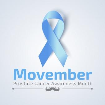 Movember banner mit blauem band
