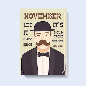 Movember-bewusstseins-plakatschablone