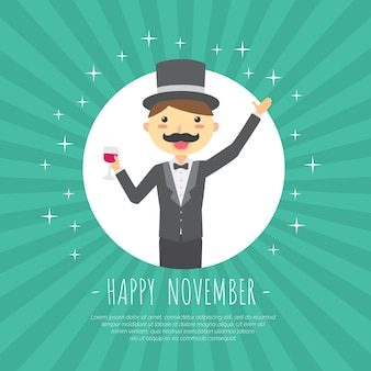 Movember design mit magier