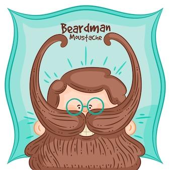 Movember-designhintergrund mit hippie-bart