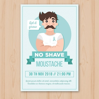 Movember flyer vorlage