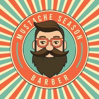 Movember hintergrund im vintage-stil