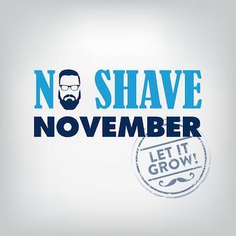 Movember, keine rasur november typografische gestaltung
