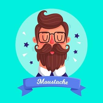 Movember-konzept im flachen design