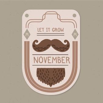 Movember-konzept mit vintage-design